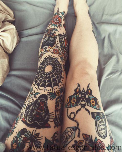 tattoo piernas mujeres 14