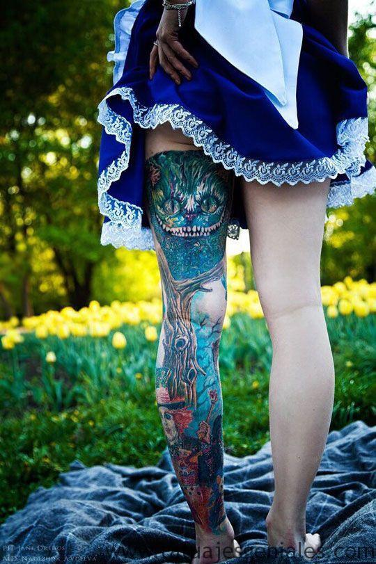 tattoo piernas mujeres 2