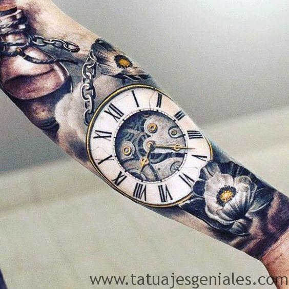 tattoo reloj antiguos 4