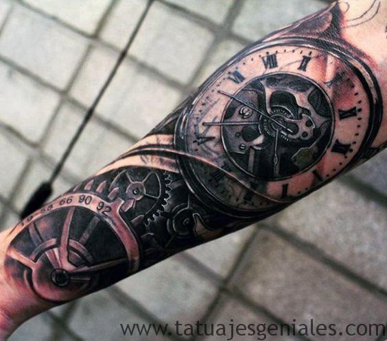 tattoo reloj antiguos 5