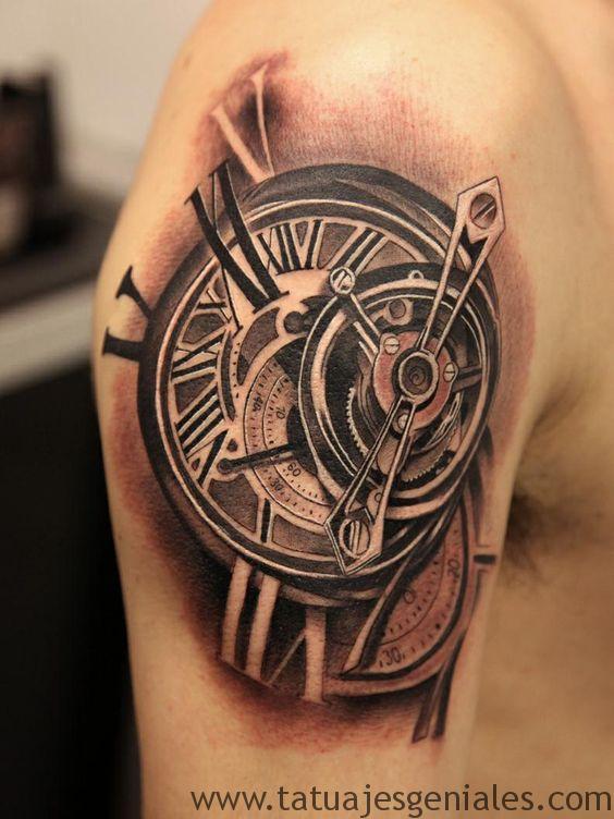 tattoo reloj antiguos 6
