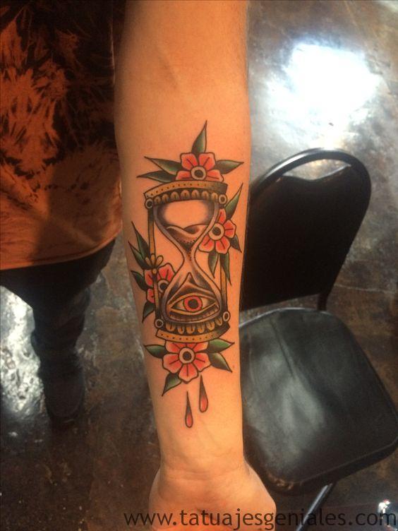 tattoo reloj de arena 5