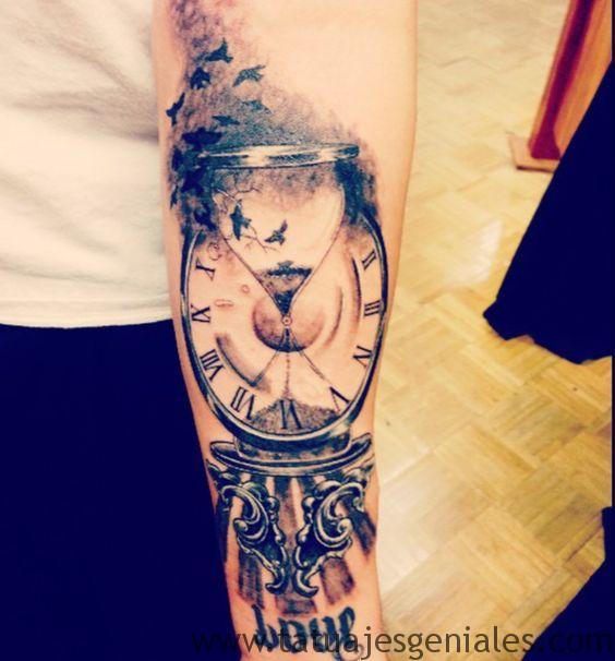 tattoo reloj de arena 6