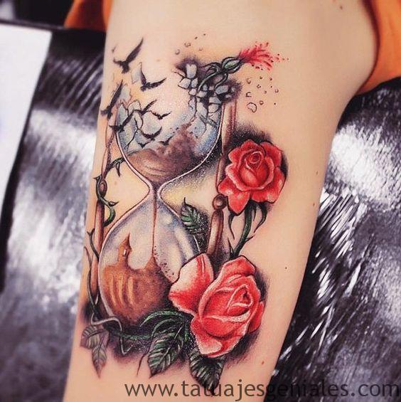 tattoo reloj de arena 7