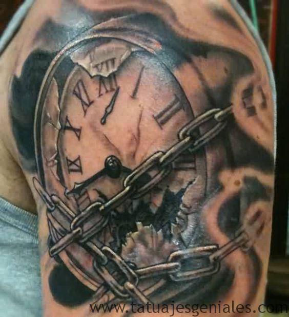 tattoo reloj en el brazo 1