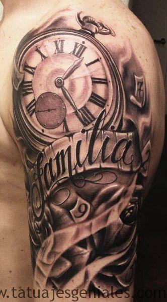 tattoo reloj en el brazo 2
