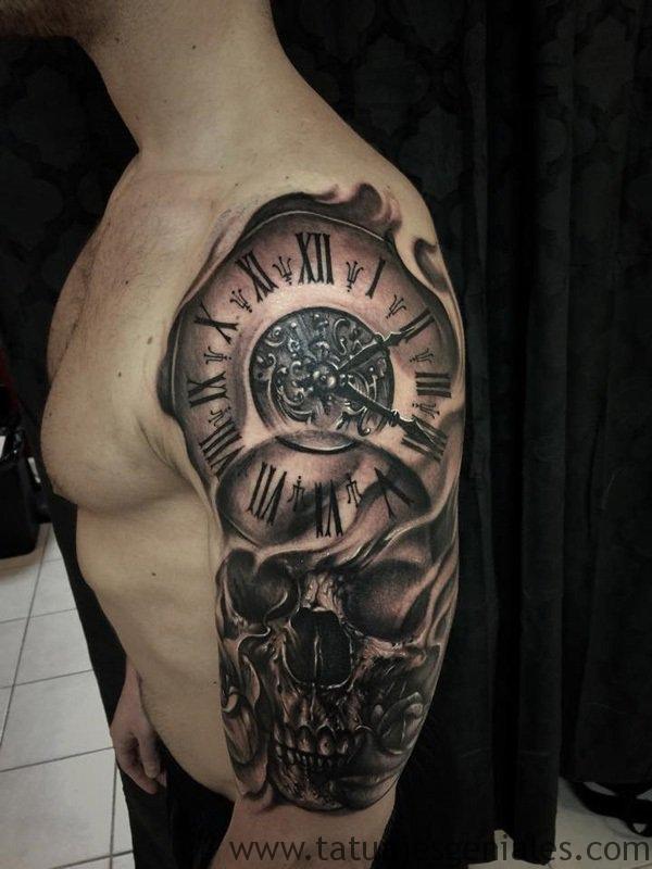 tattoo reloj en el brazo 3