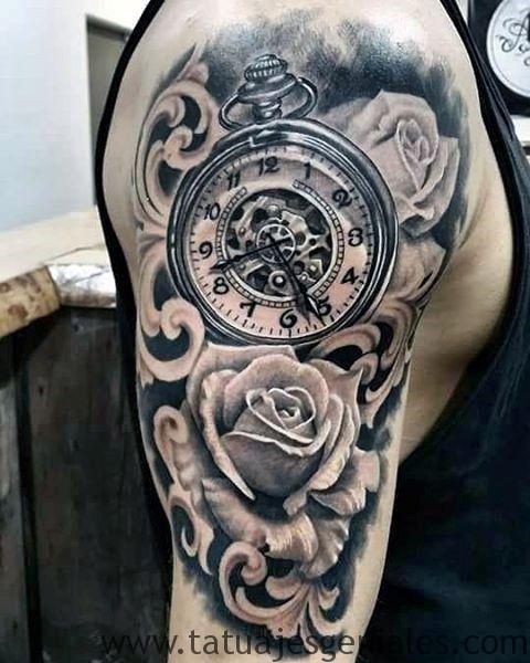 60 Ideas Exclusivas De Tatuajes De Relojes Y Sus Tipos ⋆ 2019