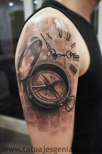 tattoo reloj en el brazo 5