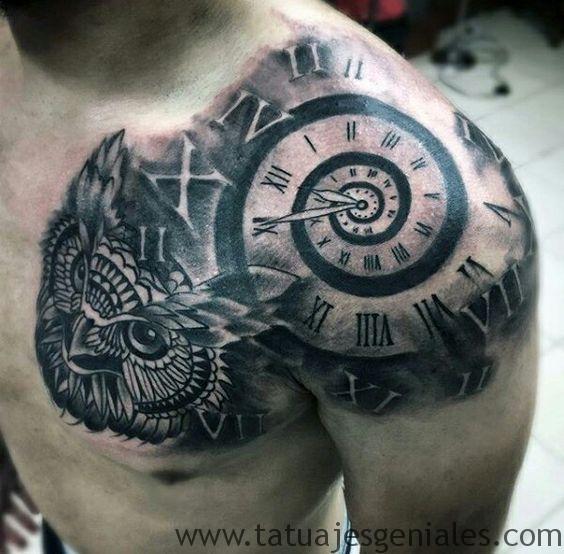 tattoo reloj para hombres 1