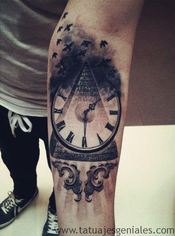 tattoo reloj para hombres 2
