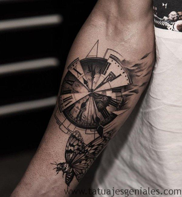 tattoo reloj para hombres 5