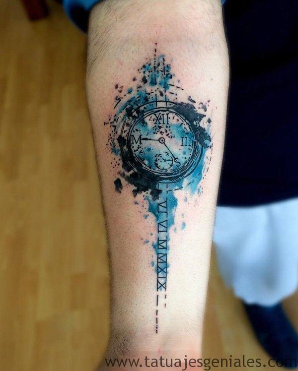 tattoo reloj para hombres 6