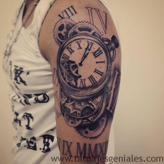 tattoo reloj para mujeres 1