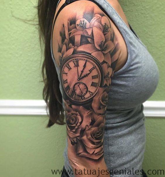 tattoo reloj para mujeres 2