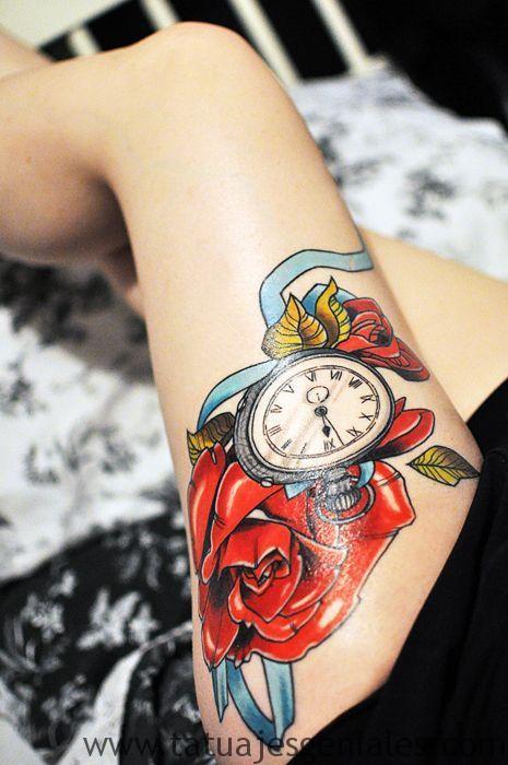 tattoo reloj para mujeres 6