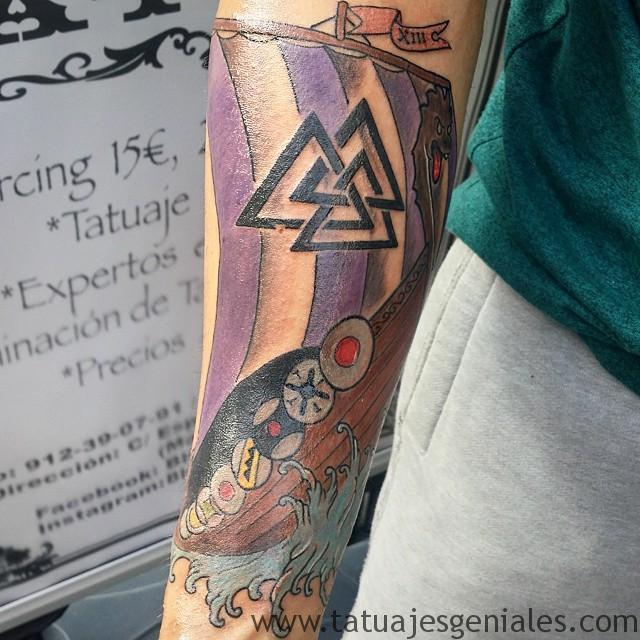 tattoo vikings ships 4