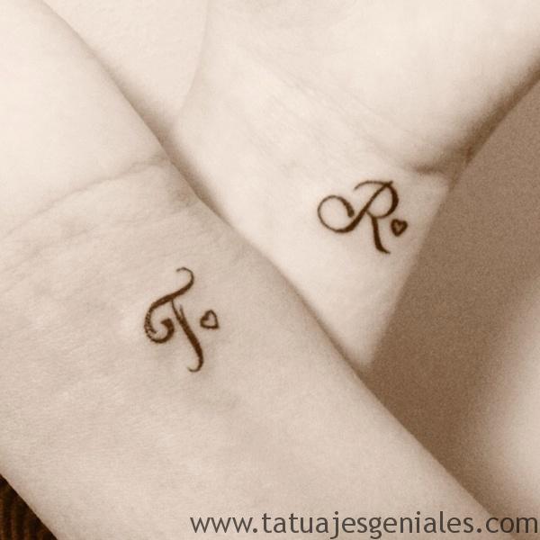 tatuaje pequeño pareja hermana amiga 5 -