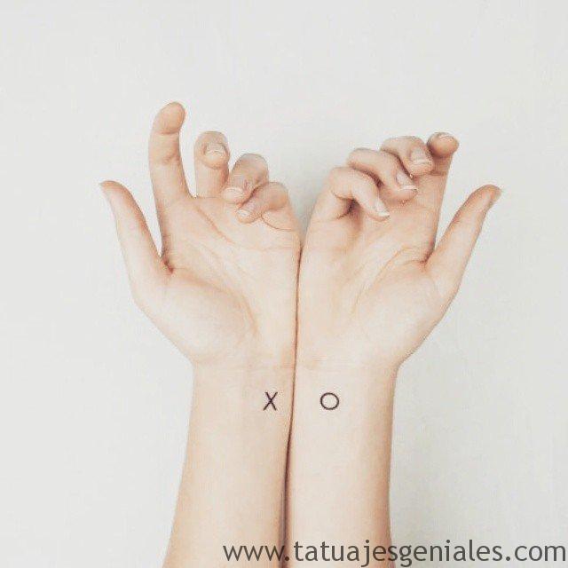 tatuaje pequeño pareja hermana amiga 8 -