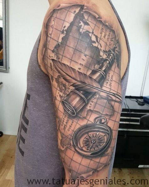 tatuajes brujula hombres 4