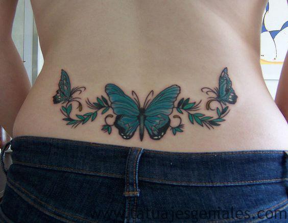 tatuajes caderas mariposas 1