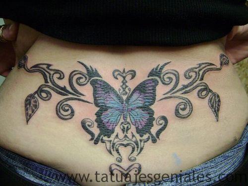 tatuajes caderas mariposas 2
