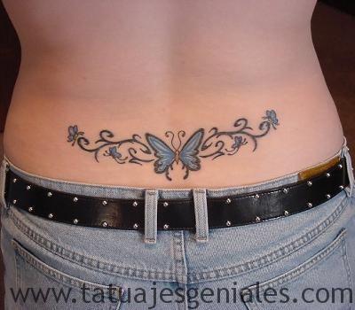 tatuajes caderas mariposas 3