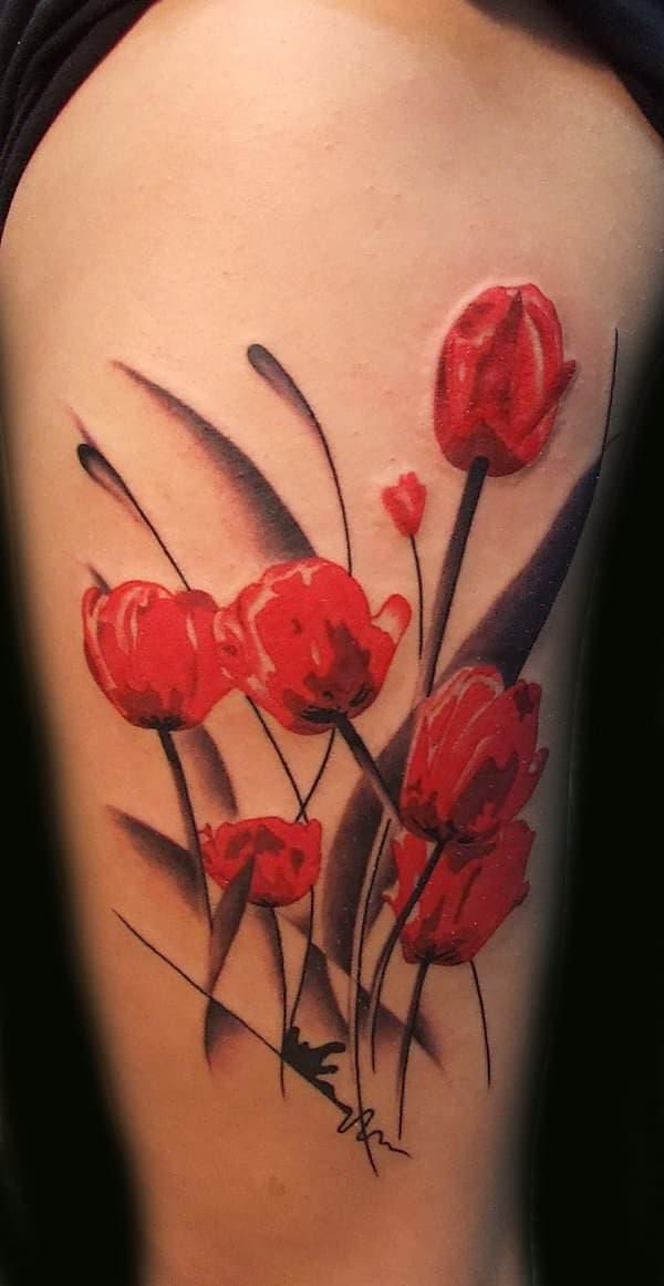 tatuajes de flores de colores 2 -