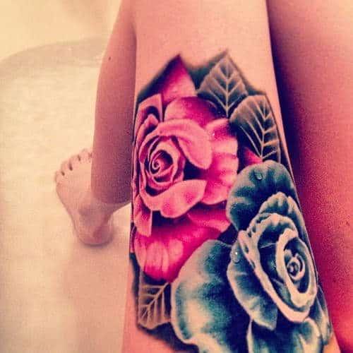 tatuajes de flores de colores 6