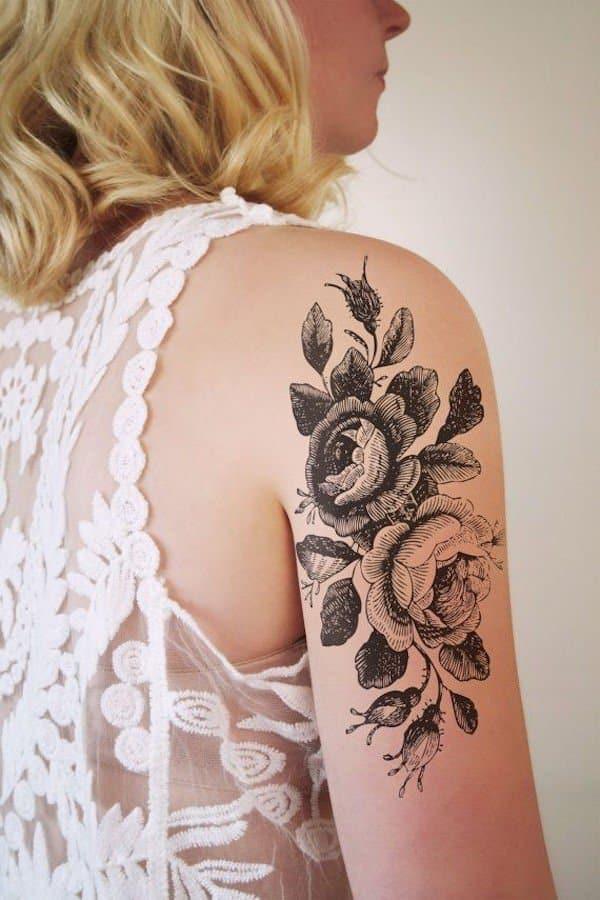 tatuajes de flores en el brazo 3