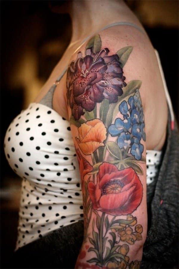 tatuajes de flores en el brazo 5