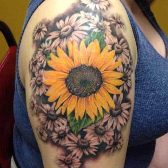 tatuajes de flores en el brazo 6