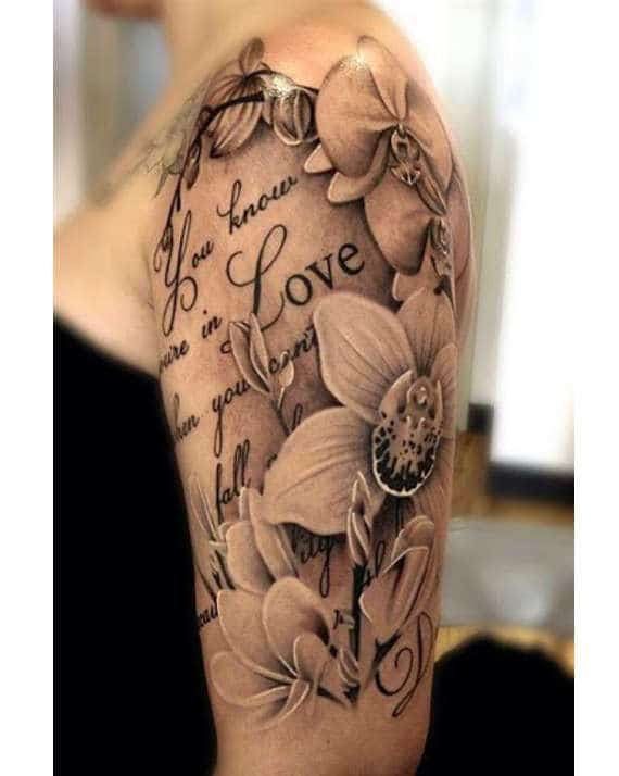 tatuajes de flores en el brazo 7