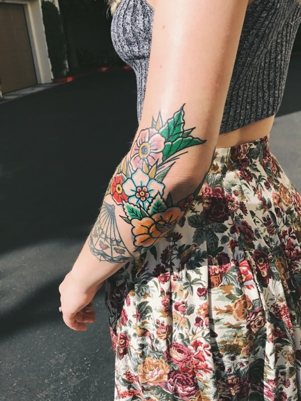 tatuajes de flores en el brazo 8