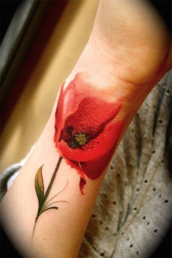 tatuajes de flores en la mano 5