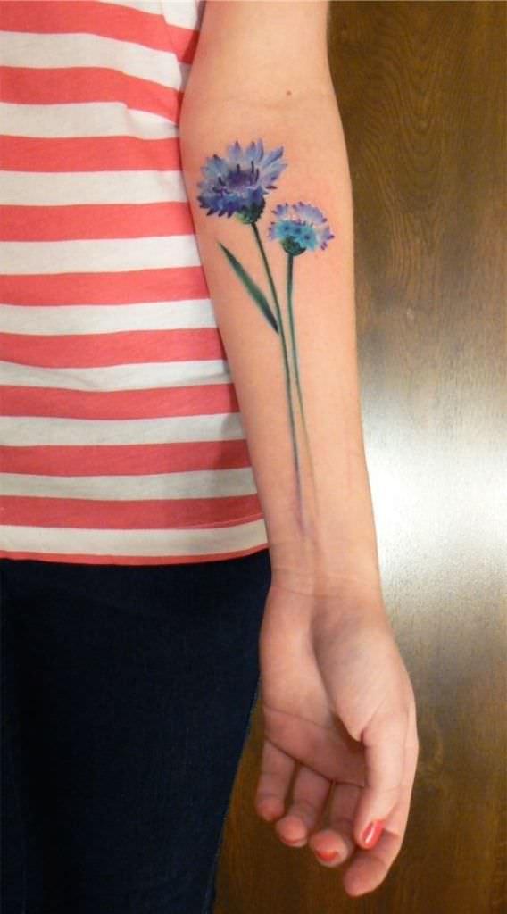 tatuajes de flores en la mano 7 -