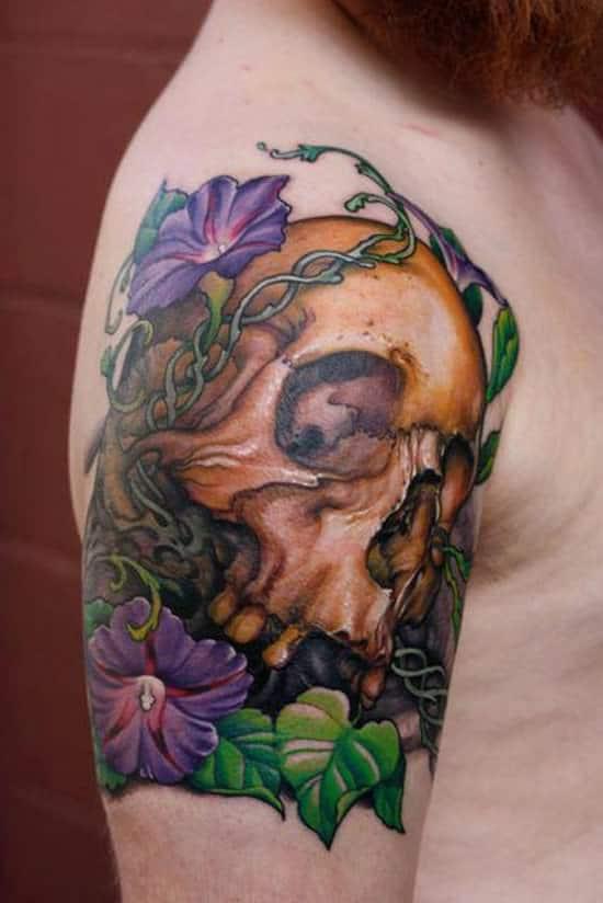 tatuajes de flores para hombre 3