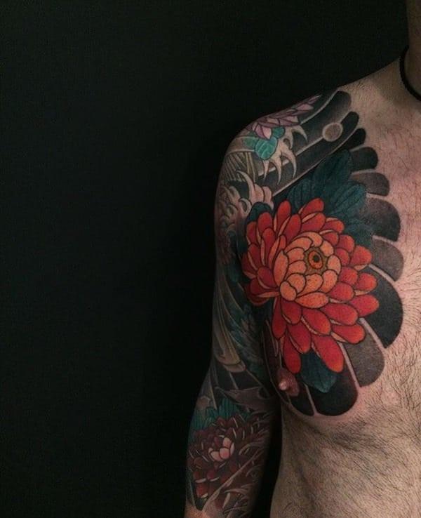 tatuajes de flores para hombre 5