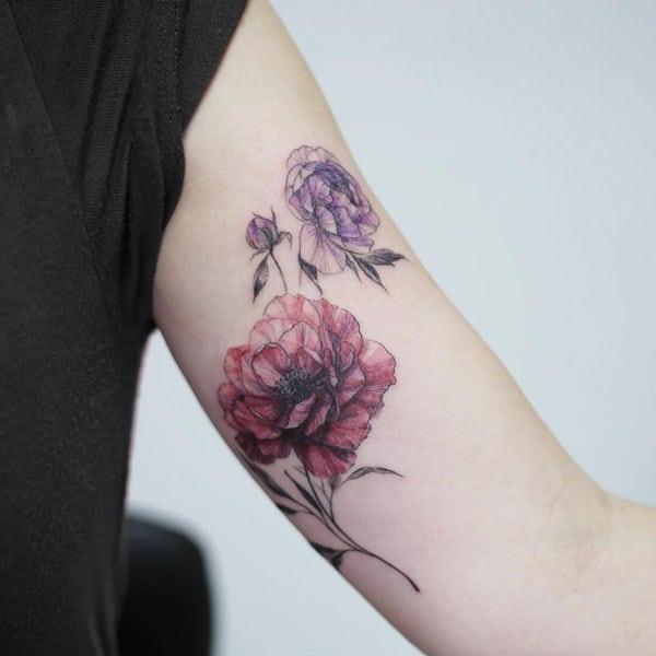 tatuajes de flores para hombre 7