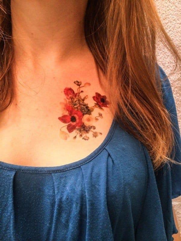 tatuajes de flores para mujeres 1