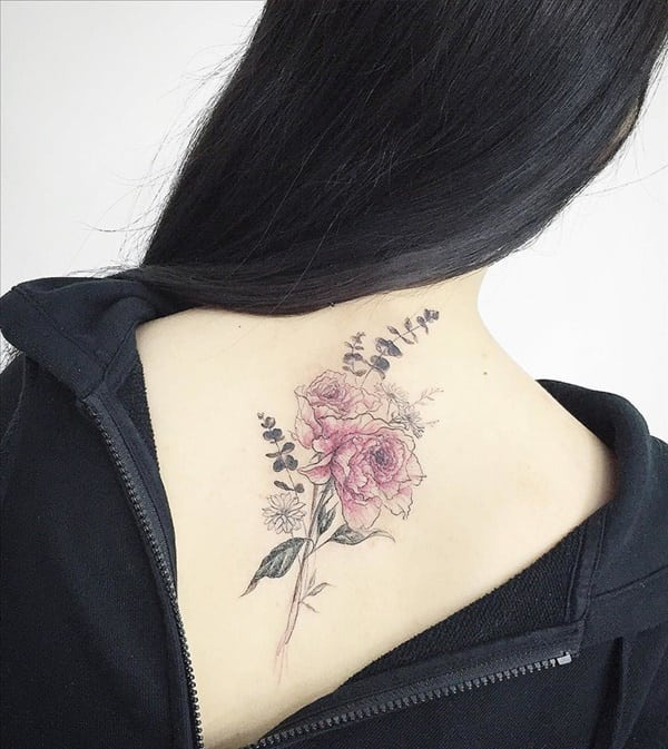 tatuajes de flores para mujeres 8