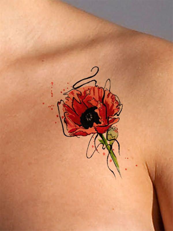 tatuajes de flores para mujeres 9