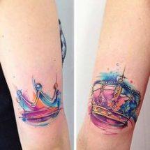 tatuajes de parejas con coronas 11 215x215 -