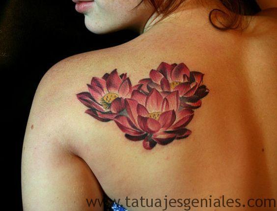 tatuajes flor loto 3d 2