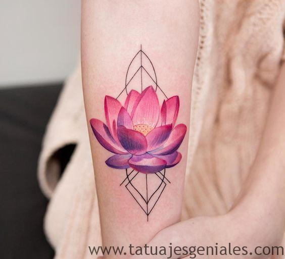tatuajes flor loto 3d 4