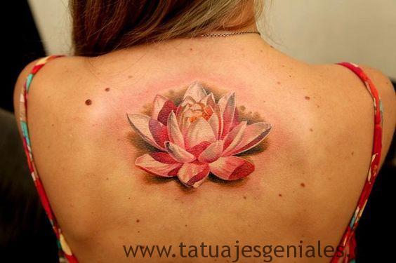 tatuajes flor loto 3d 5