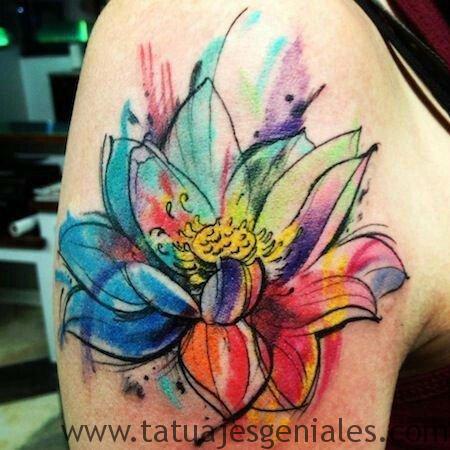 tatuajes flor loto brazo 5