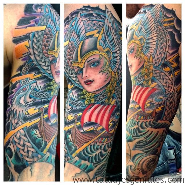 tatuajes mujeres vikingas 5