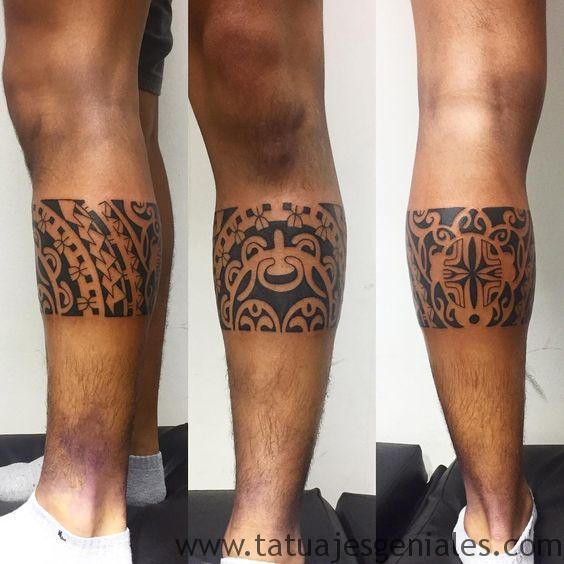 tatuajes pierna tribales 1