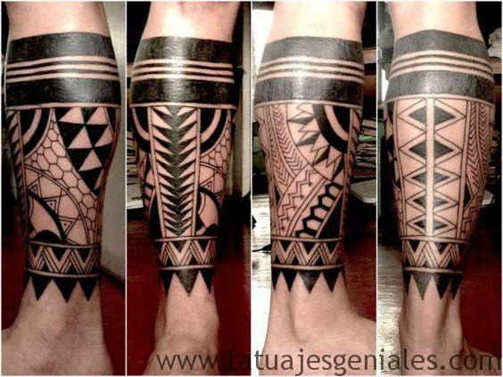tatuajes pierna tribales 3